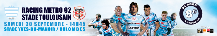 banni�re Racing metro vs LOU - samedi 13 septembre 18h30