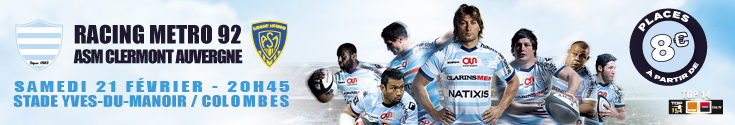 bannière Racing metro vs Clermont