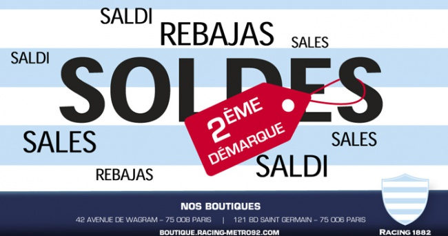 Soldes Racing 1882 - 2�me d�marque
